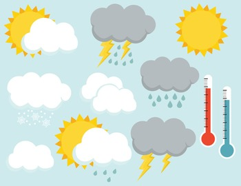 Weather clip art images, weather clipart