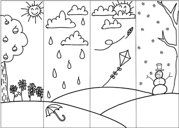 Weather Coloring Pages Preschool - Coloring Home | 250x350