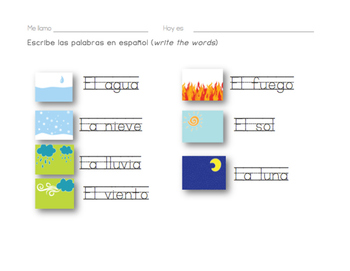 Weather elements Activities & game cards ~ traditional design