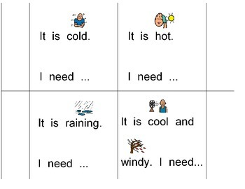 Weather flap book for students with autism