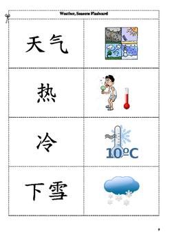 Weather flashcard 氣候字卡
