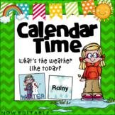 Calendar Time- Weather and Season  ~ Editable
