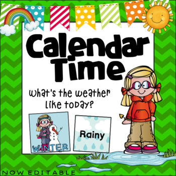 Calendar Time- Weather and Season  ~ Editable
