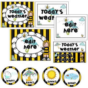 Weather Chart- Bee Theme