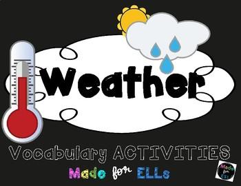 ESL Newcomer Weather Vocabulary Activities