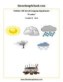 K-2 Weather for Students with S & L Speech and Language Disabilities