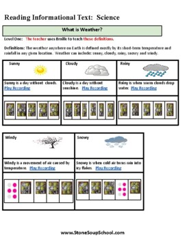Weather for Students with Visual Impairments