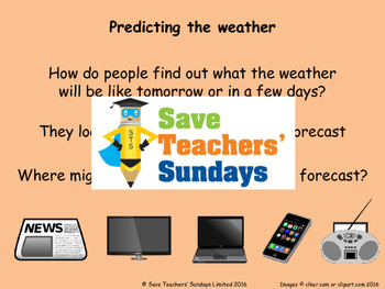 Weather forecasts in French (2 lessons) Plans, PowerPoints (with audio) & More