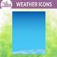 Weather icons clip art set