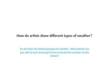 Weather in Art Powerpoint
