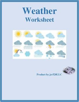 Weather in English worksheet