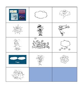 Weather in French Cut Out and Glue Activity
