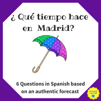 Weather in Madrid Forecast Questions Worksheet