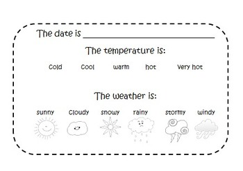 Weather in My World charting booklet