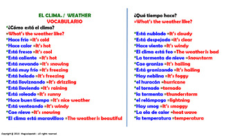 The Weather. Power Point Presentation with audio.