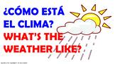 El Clima. / PPT. con audio.