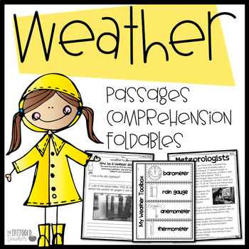Weather leveled Close reads passages, INB foldables!
