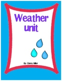 Weather math, writing and art unit