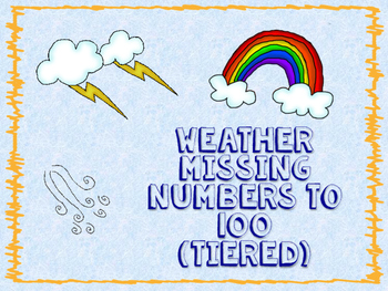 Weather missing Numbers to 100 (Tiered)