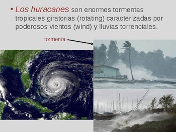 Weather, natural disasters, accidents, and rescues -Spanish