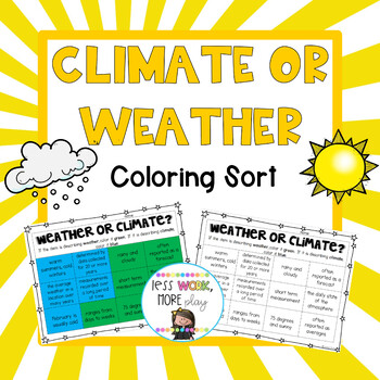 Weather or Climate Coloring Sort