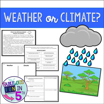 Weather and Climate: Nonfiction Passage and Cut and Paste