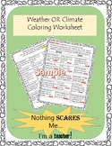 Weather or Climate Printable Coloring Worksheet Activity