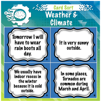 Card Sort: Weather or Climate