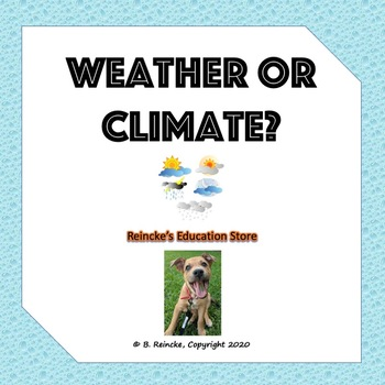 Weather or Climate? Worksheet