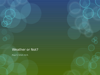 Weather or Not Science Olympiad Study Guide