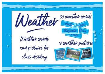 Weather pictures and words for class display