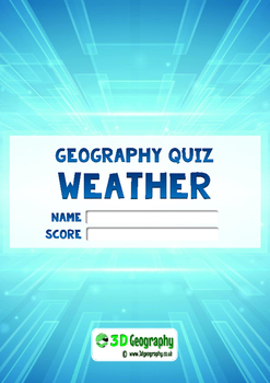 Weather quiz - complete with answer key