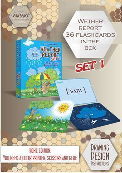 Weather report 36 flashcards in the box. SET 1. Home edition.