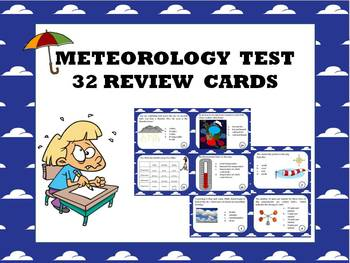 Weather science: review and test preparation task cards
