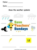 Weather symbols Lesson plan, Flashcards and Worksheets