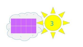 Weather themed 10 frames math activity cards PreK-1st