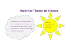 Weather themed 10 frames math activity cards PreK-1st