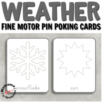 Weather tracing or push pin cards