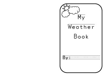 Weather vocabulary book