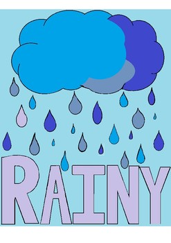 Weather vocabulary flashcards