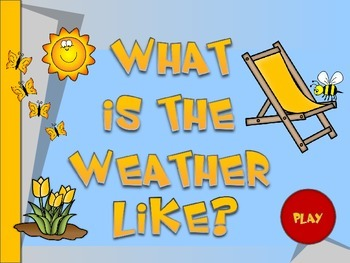 Weather vocabulary game