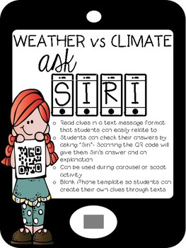 Weather vs Climate ASK SIRI