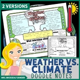 Weather vs. Climate - Climate Change Science Doodle Note