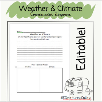 Weather vs. Climate Constructed Response