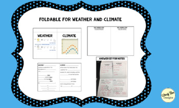 Weather vs. Climate Foldable