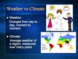 PowerPoint:  Weather vs. Climate Over Time
