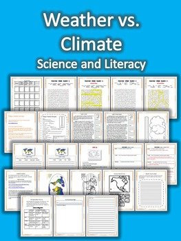 Weather vs. Climate Science and Literacy Lesson Set (STAAR & Common Core)