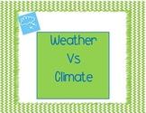Weather vs. Climate Venn Activity