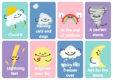 Weather words, expressions and idioms flashcards