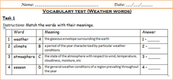 Weather words - test